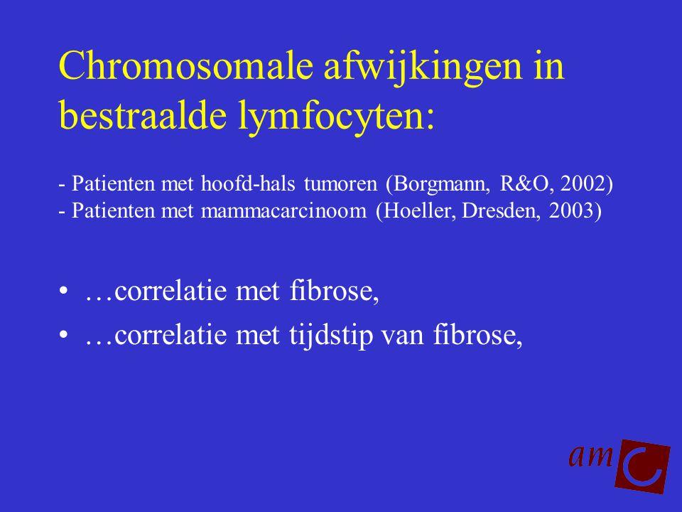 Chromosomale afwijkingen in bestraalde lymfocyten: