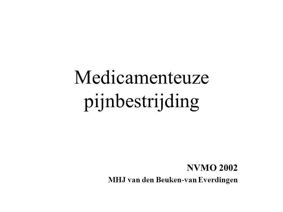 Medicamenteuze pijnbestrijding