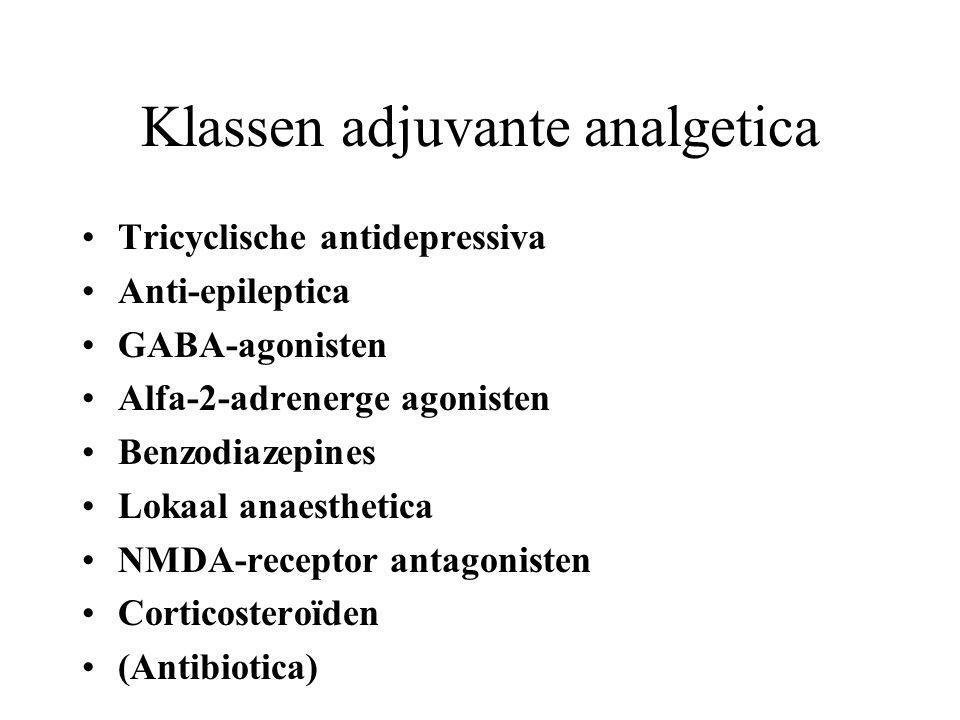 Klassen adjuvante analgetica