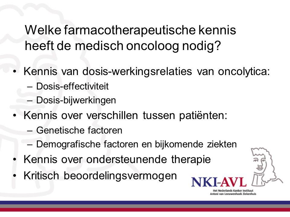 Welke farmacotherapeutische kennis heeft de medisch oncoloog nodig