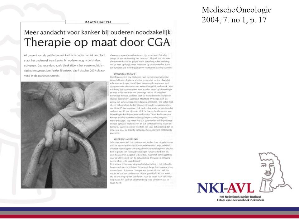 Medische Oncologie 2004; 7: no 1, p. 17