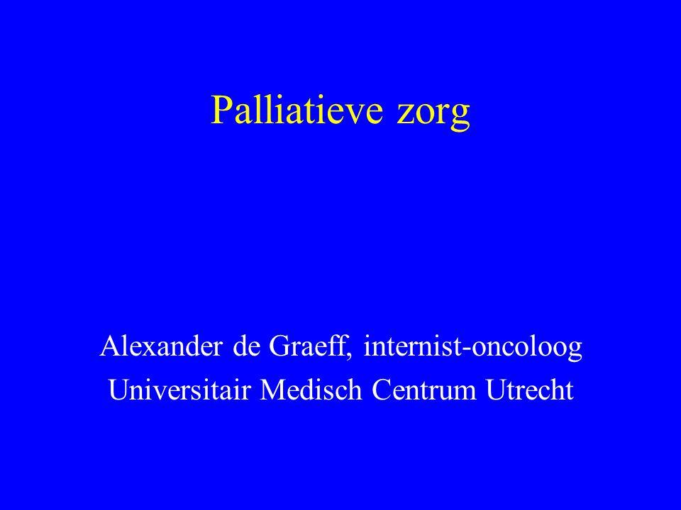 Palliatieve zorg Alexander de Graeff, internist-oncoloog