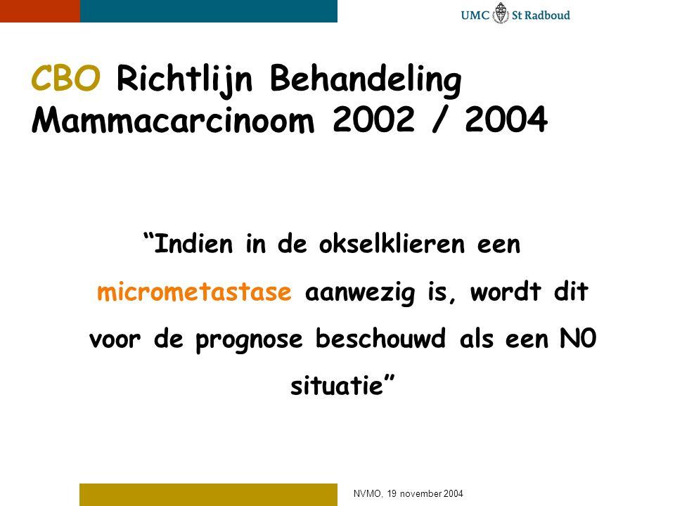 CBO Richtlijn Behandeling Mammacarcinoom 2002 / 2004