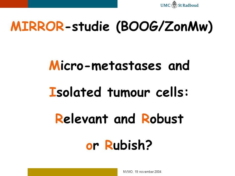 MIRROR-studie (BOOG/ZonMw)