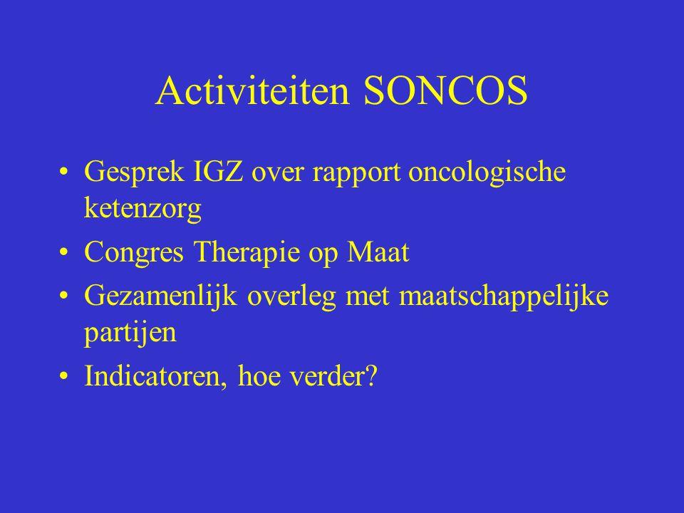 Activiteiten SONCOS Gesprek IGZ over rapport oncologische ketenzorg