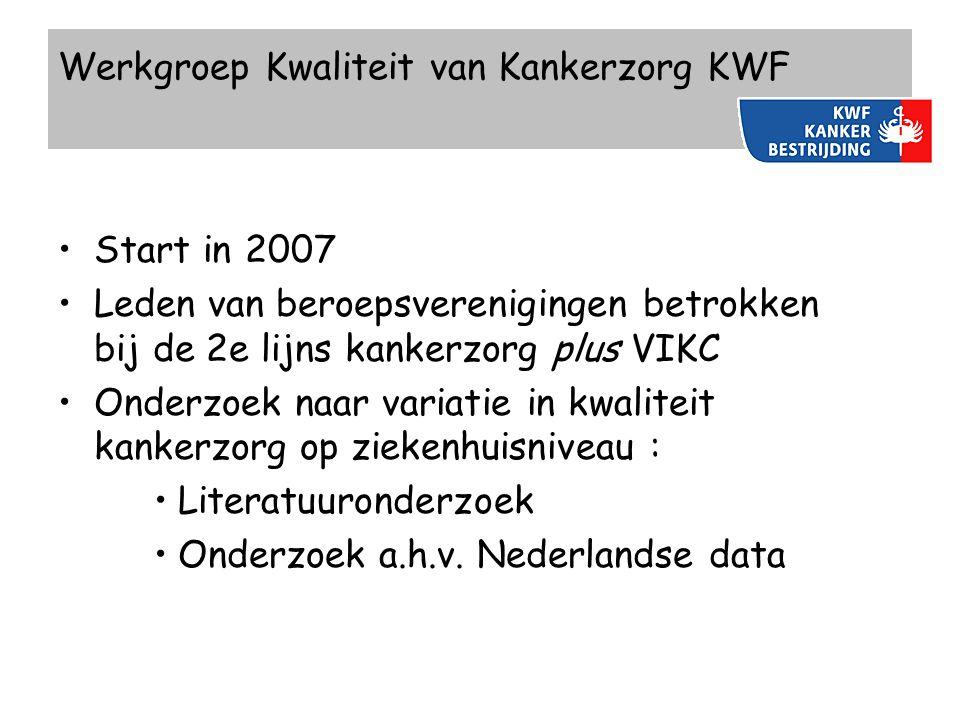 Werkgroep Kwaliteit van Kankerzorg KWF