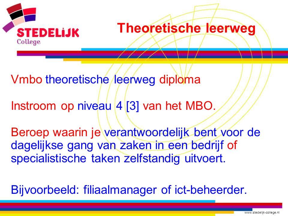 Theoretische leerweg Vmbo theoretische leerweg diploma