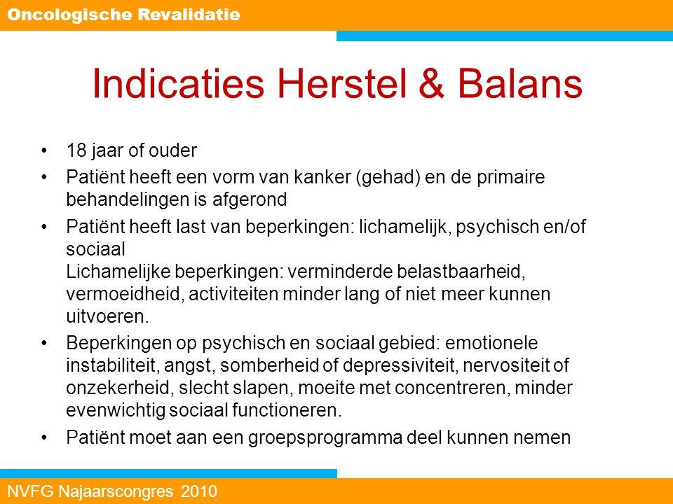 Indicaties Herstel & Balans