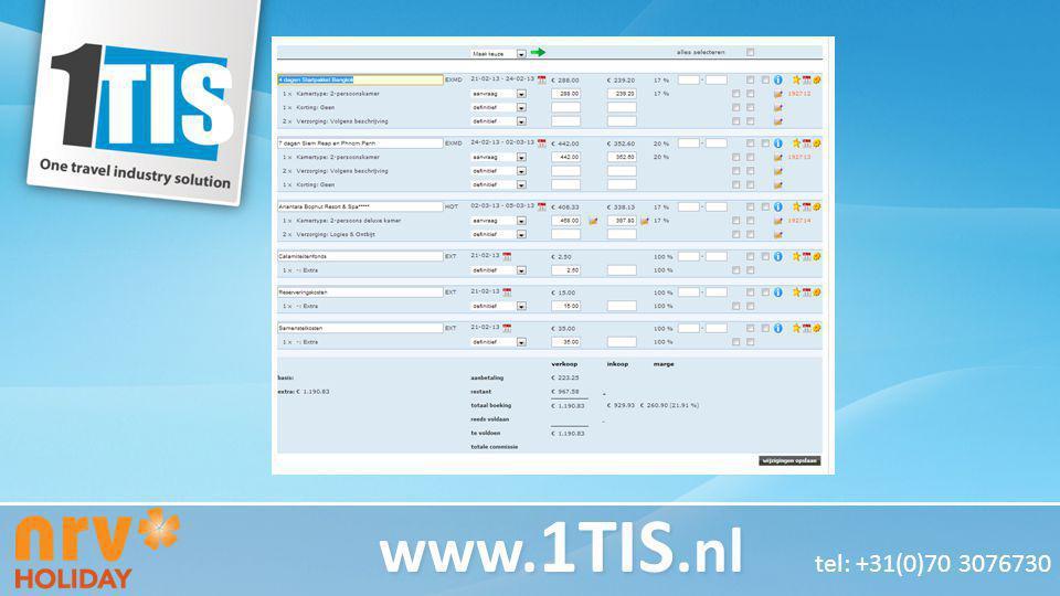 Test Koptekst Test tekst www.1TIS.nl tel: +31(0)70 3076730