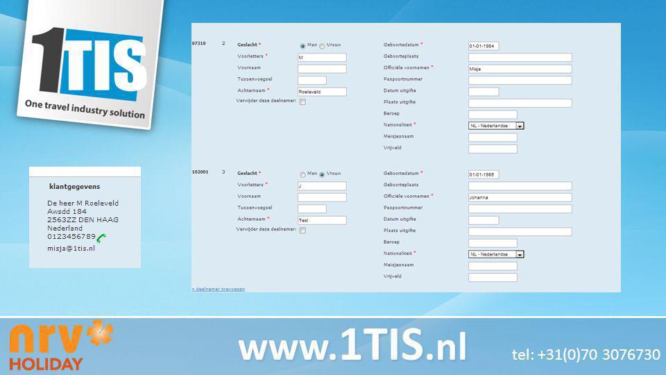 www.1TIS.nl tel: +31(0)70 3076730