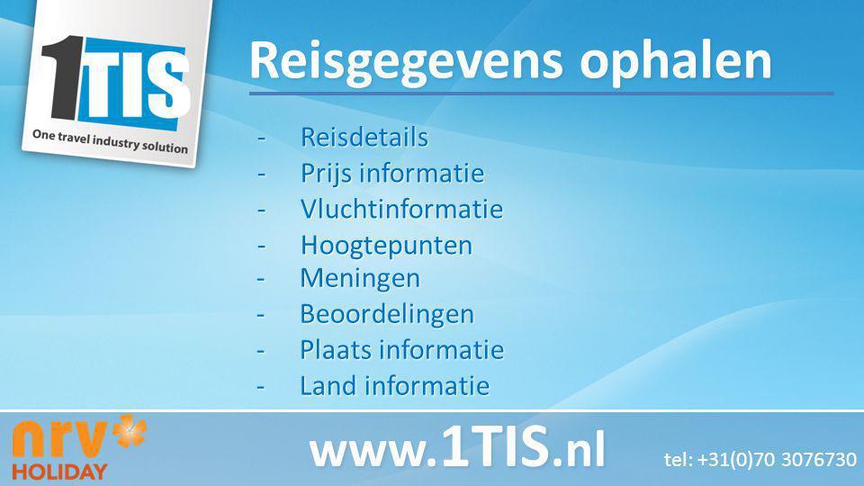 Reisdetails Prijs informatie Vluchtinformatie Hoogtepunten