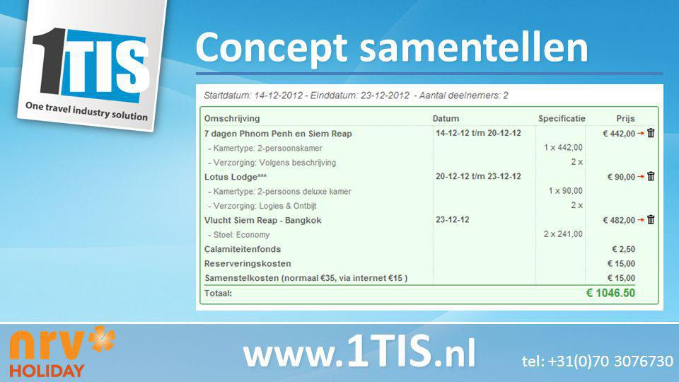 Concept samentellen www.1TIS.nl tel: +31(0)70 3076730