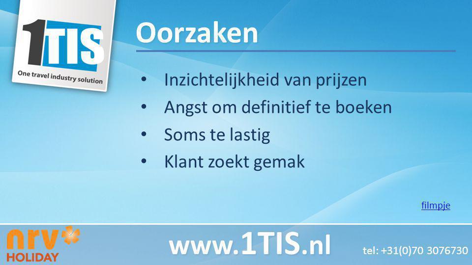 Oorzaken www.1TIS.nl tel: +31(0)70 3076730