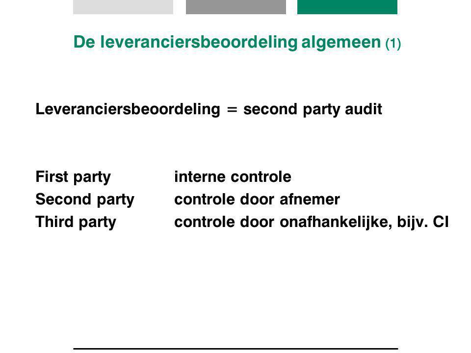 De leveranciersbeoordeling algemeen (1)