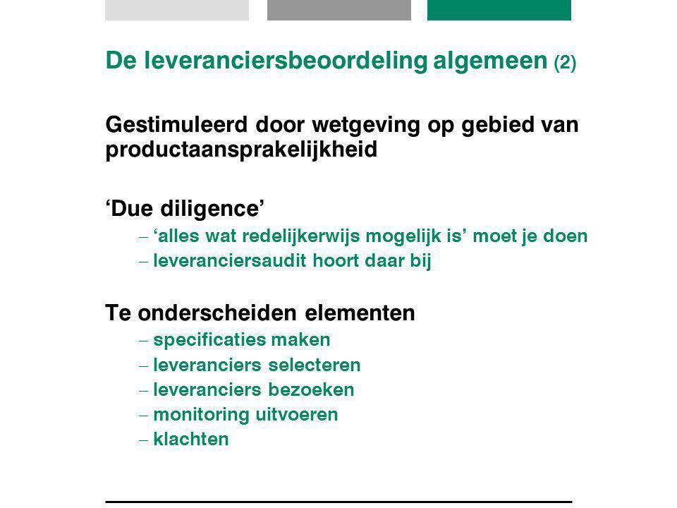 De leveranciersbeoordeling algemeen (2)
