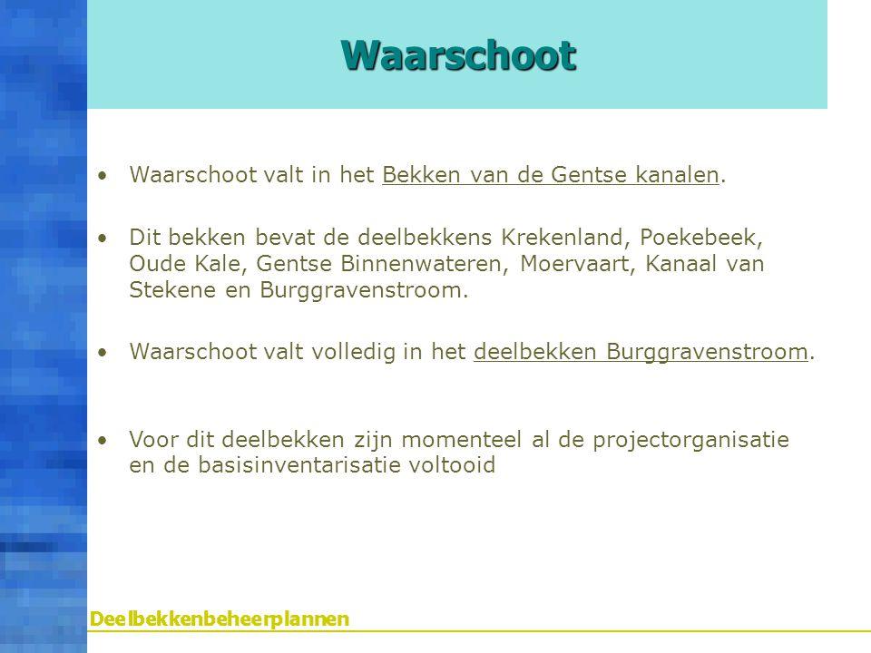Waarschoot Waarschoot valt in het Bekken van de Gentse kanalen.