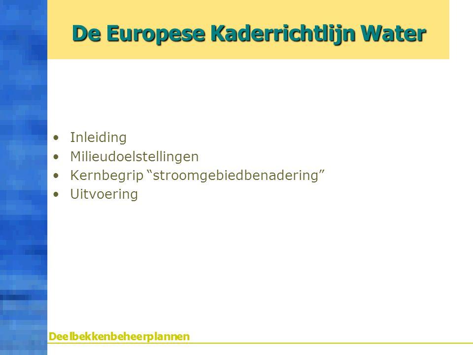 De Europese Kaderrichtlijn Water