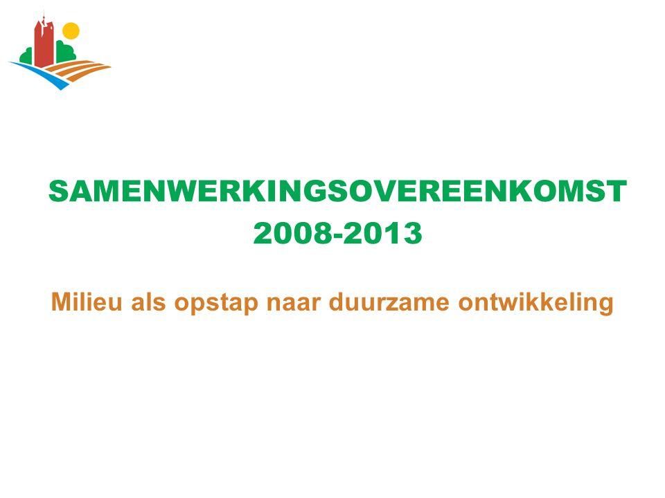SAMENWERKINGSOVEREENKOMST 2008-2013