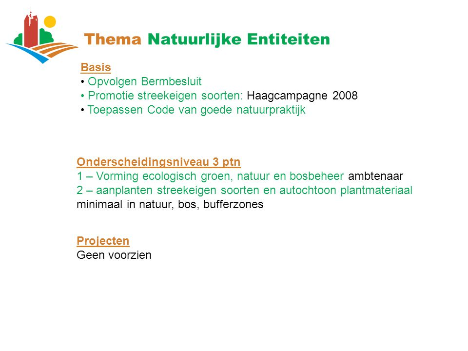 Thema Natuurlijke Entiteiten