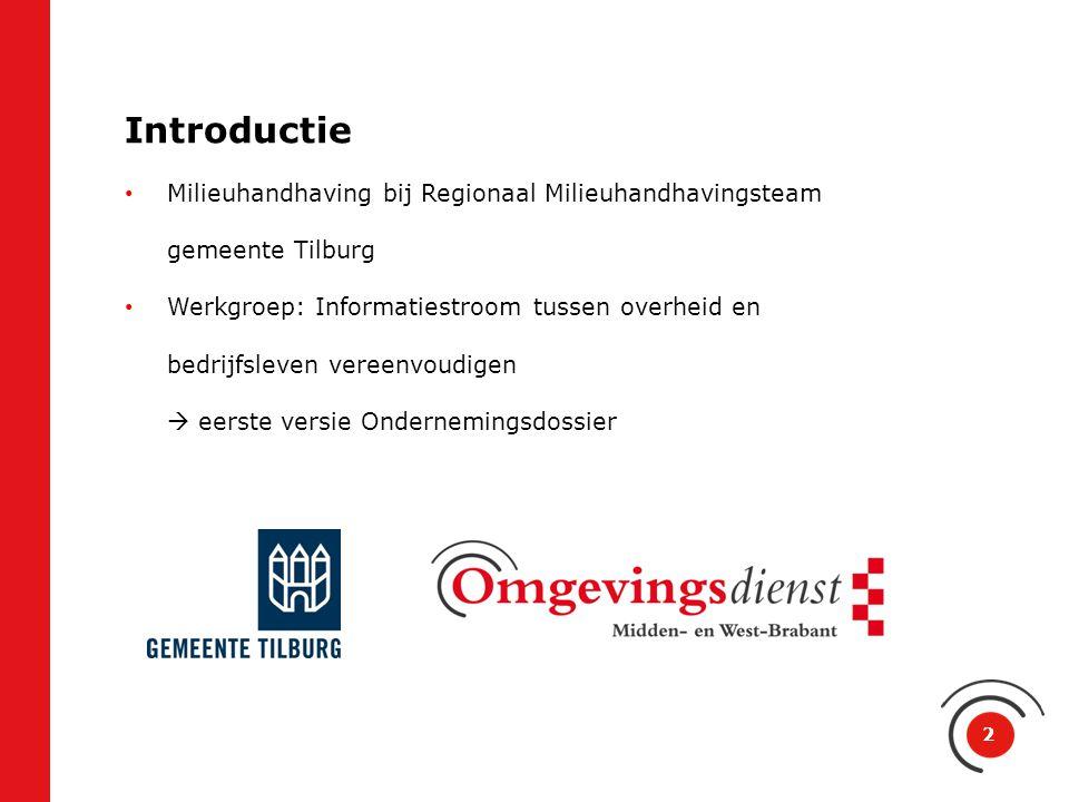 Introductie Milieuhandhaving bij Regionaal Milieuhandhavingsteam gemeente Tilburg.
