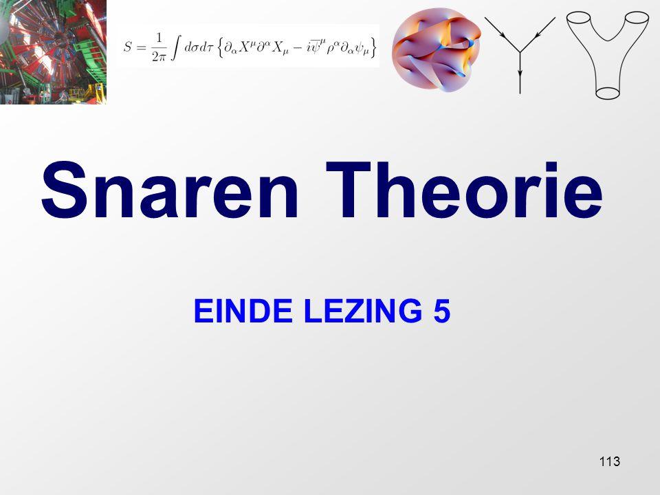 Snaren Theorie EINDE LEZING 5