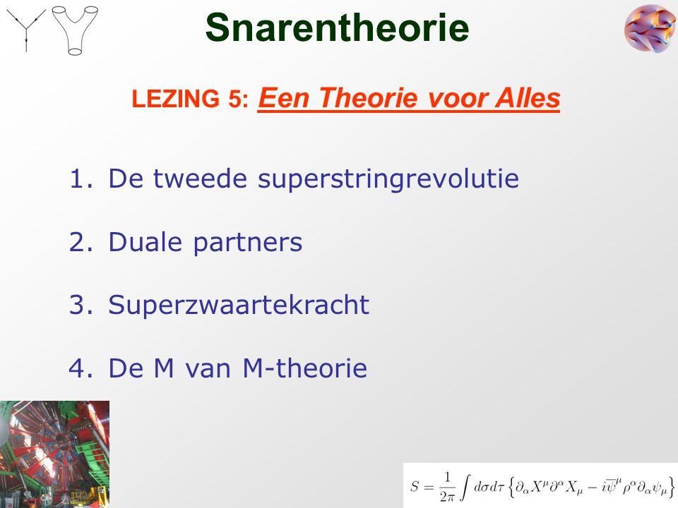 LEZING 5: Een Theorie voor Alles