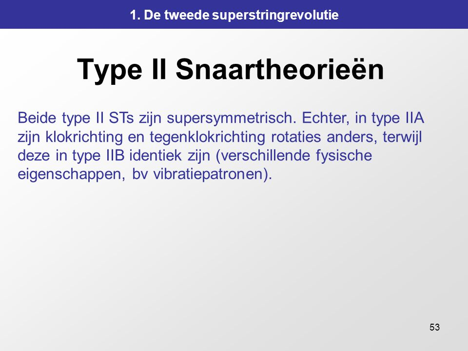 Type II Snaartheorieën
