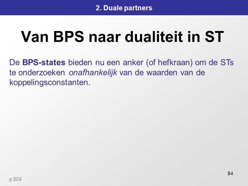 Van BPS naar dualiteit in ST