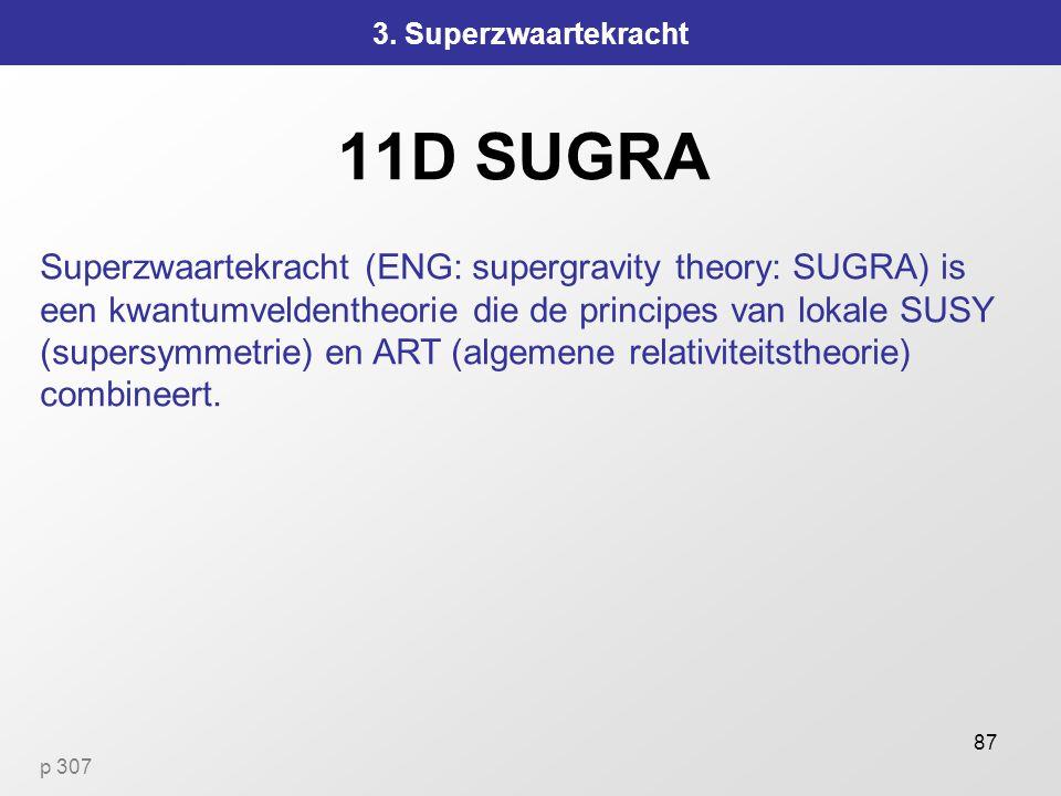 3. Superzwaartekracht 11D SUGRA.