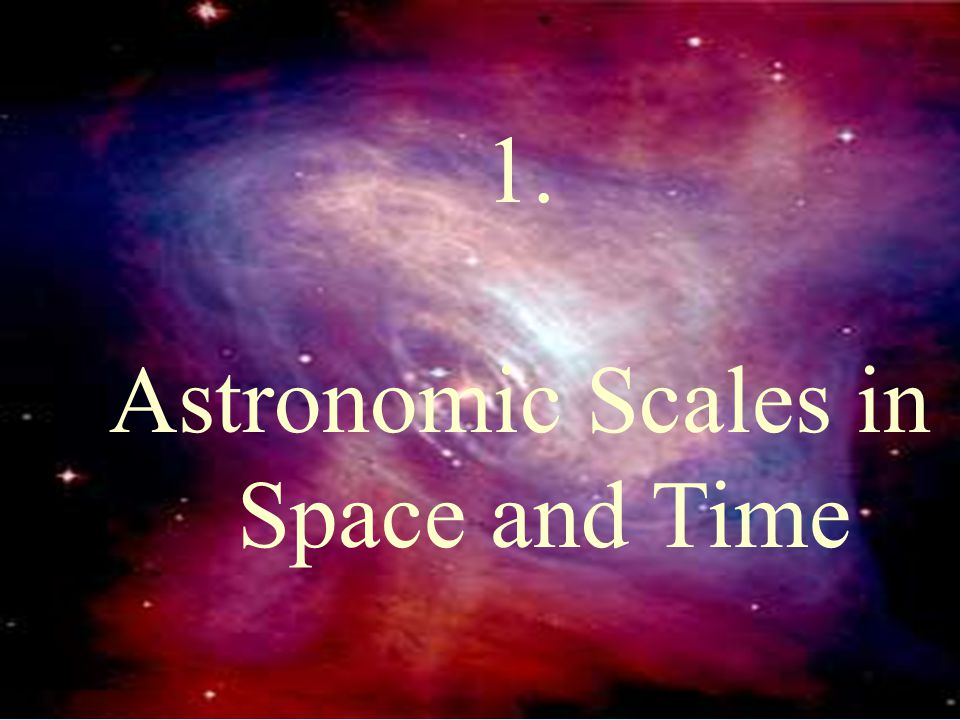 Astronomic Scales in Space and Time