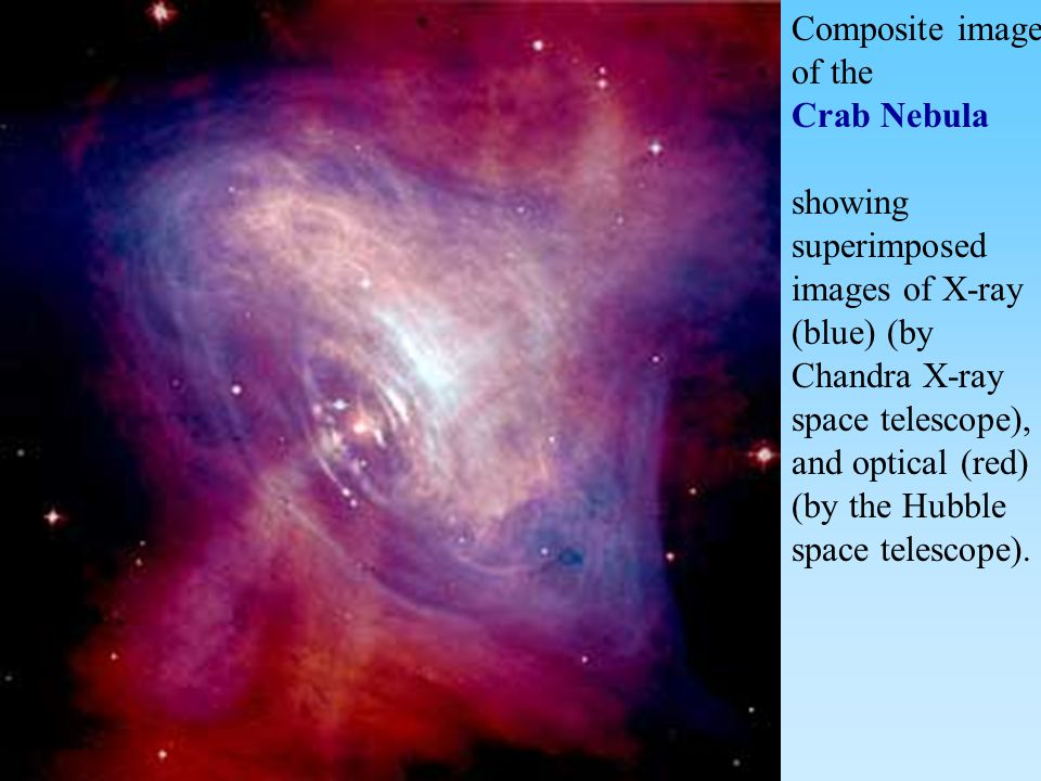 Composite image of the Crab Nebula.