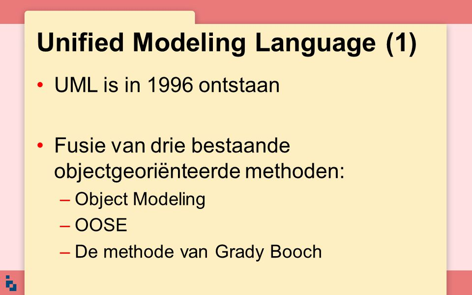 Unified Modeling Language (1)
