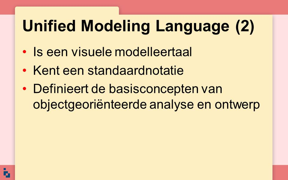 Unified Modeling Language (2)