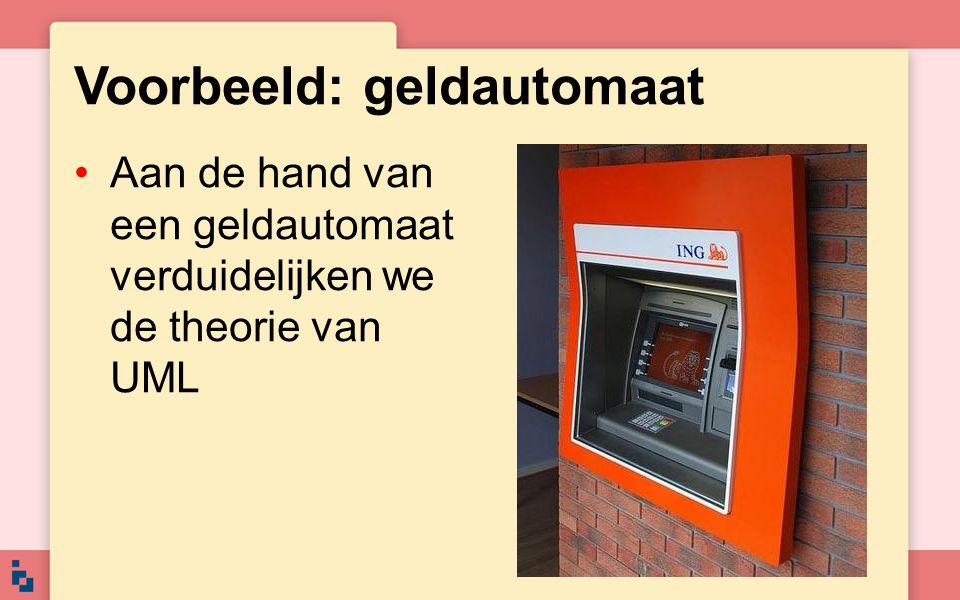 Voorbeeld: geldautomaat