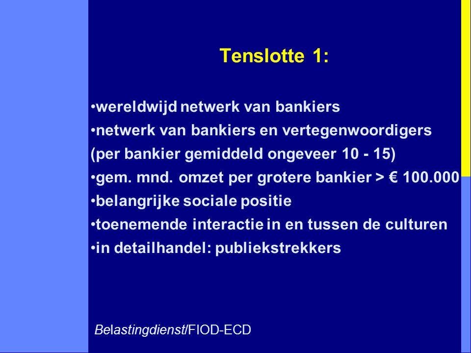Tenslotte 1: wereldwijd netwerk van bankiers
