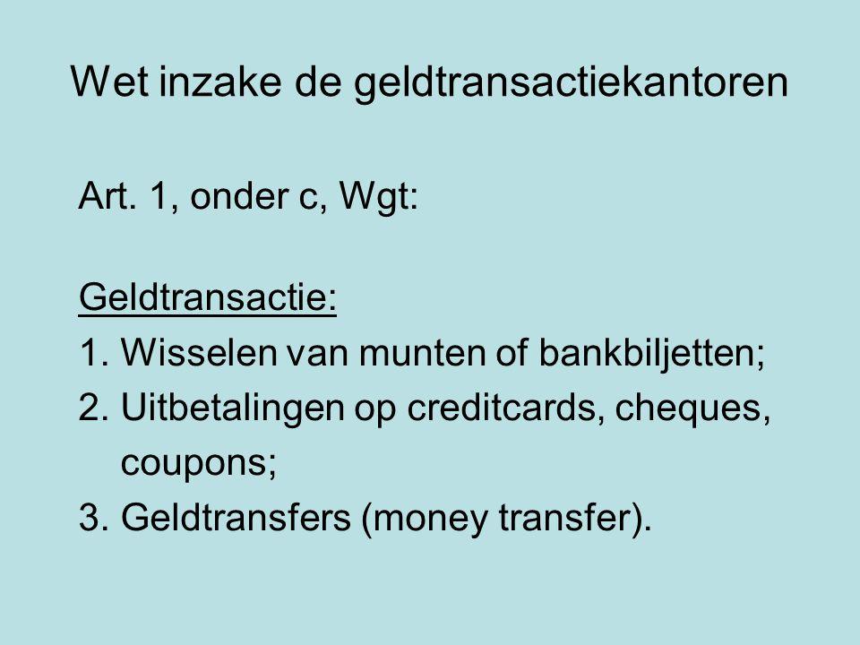 Wet inzake de geldtransactiekantoren