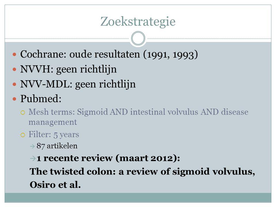Zoekstrategie Cochrane: oude resultaten (1991, 1993)