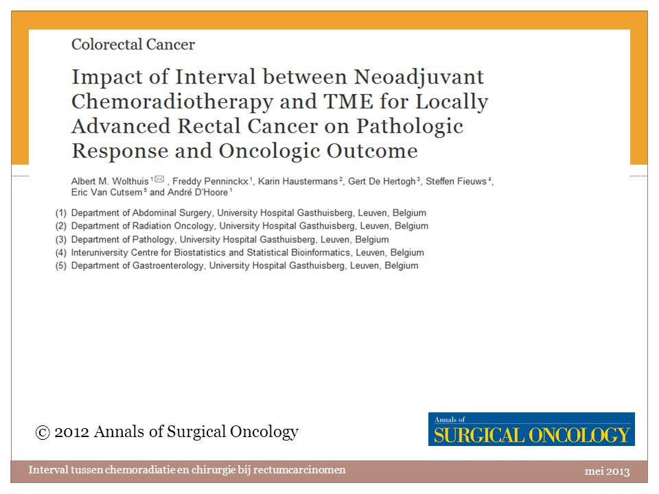 Artikel 2 © 2012 Annals of Surgical Oncology