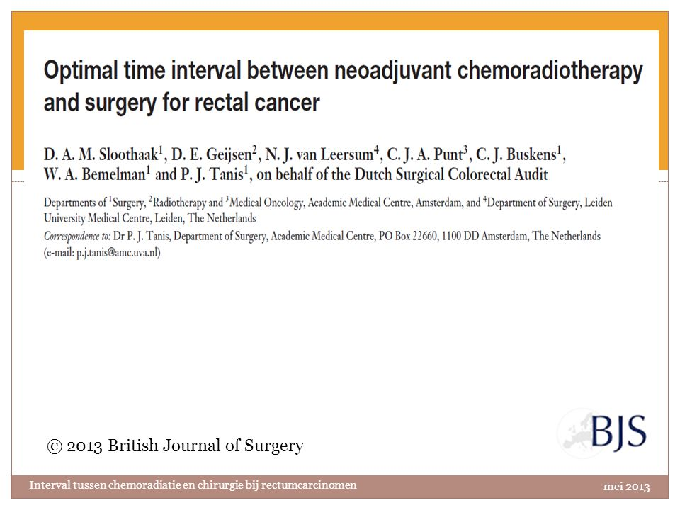 © 2013 British Journal of Surgery