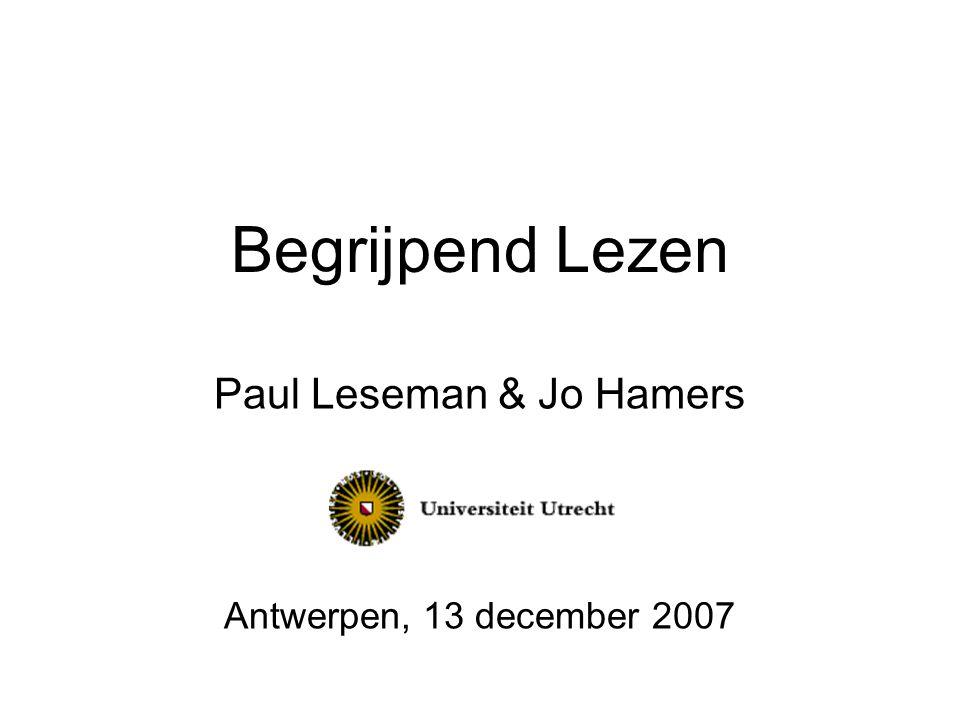 Paul Leseman & Jo Hamers Antwerpen, 13 december 2007
