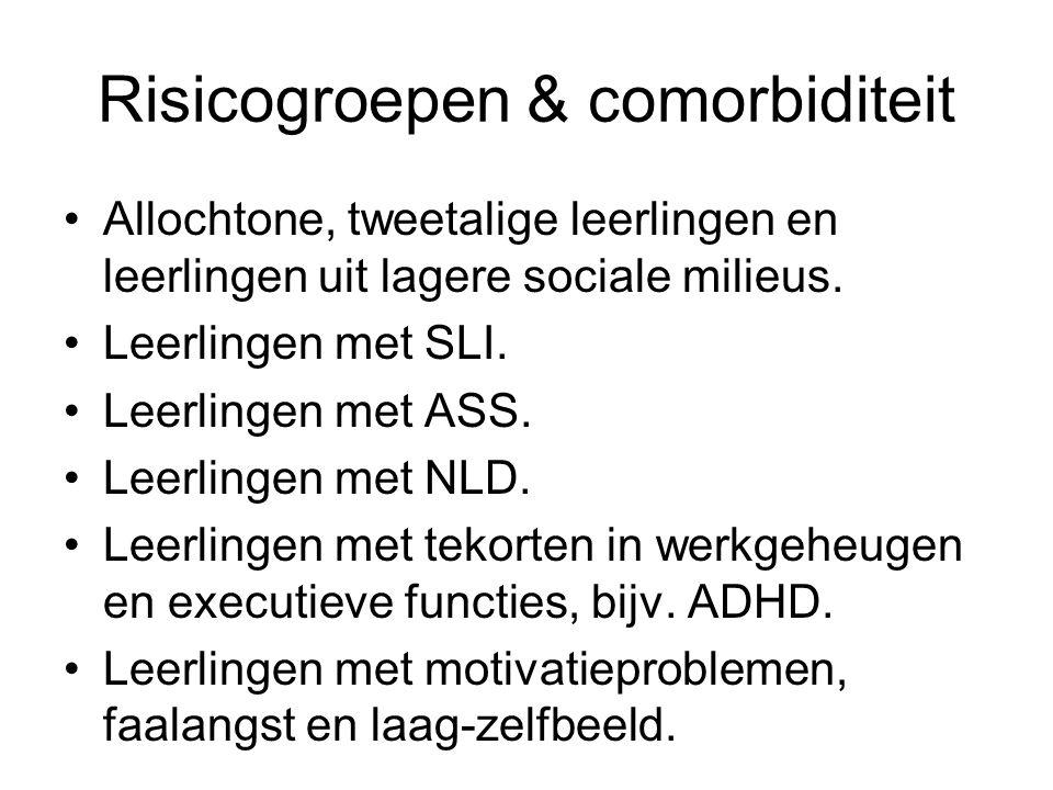 Risicogroepen & comorbiditeit