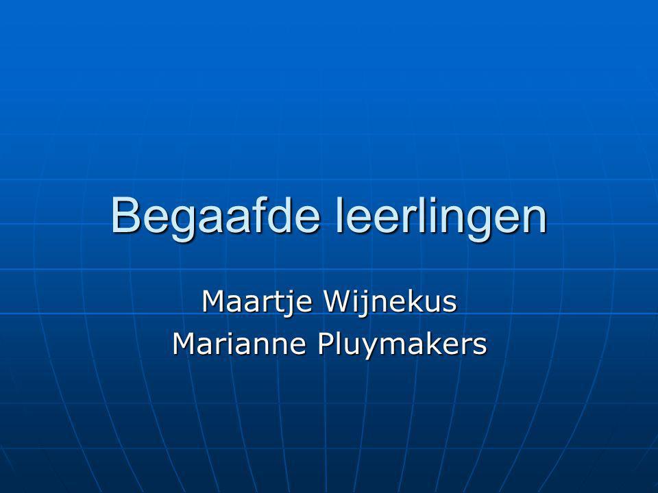 Maartje Wijnekus Marianne Pluymakers