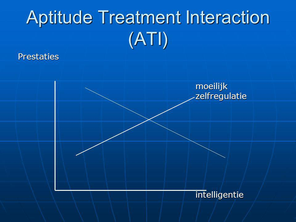 Aptitude Treatment Interaction (ATI)