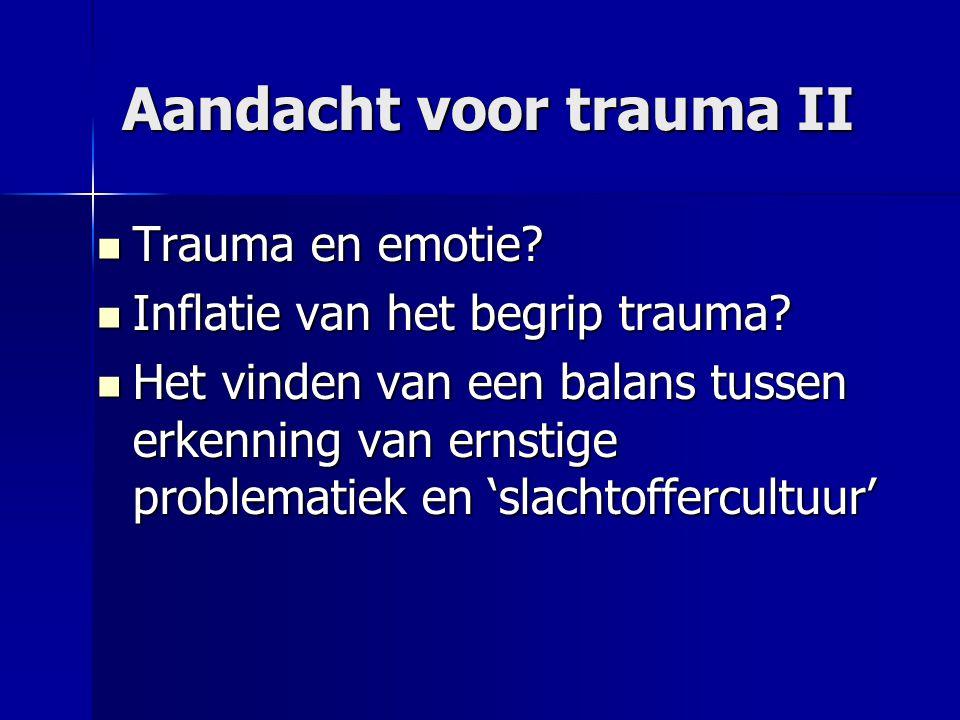 Aandacht voor trauma II
