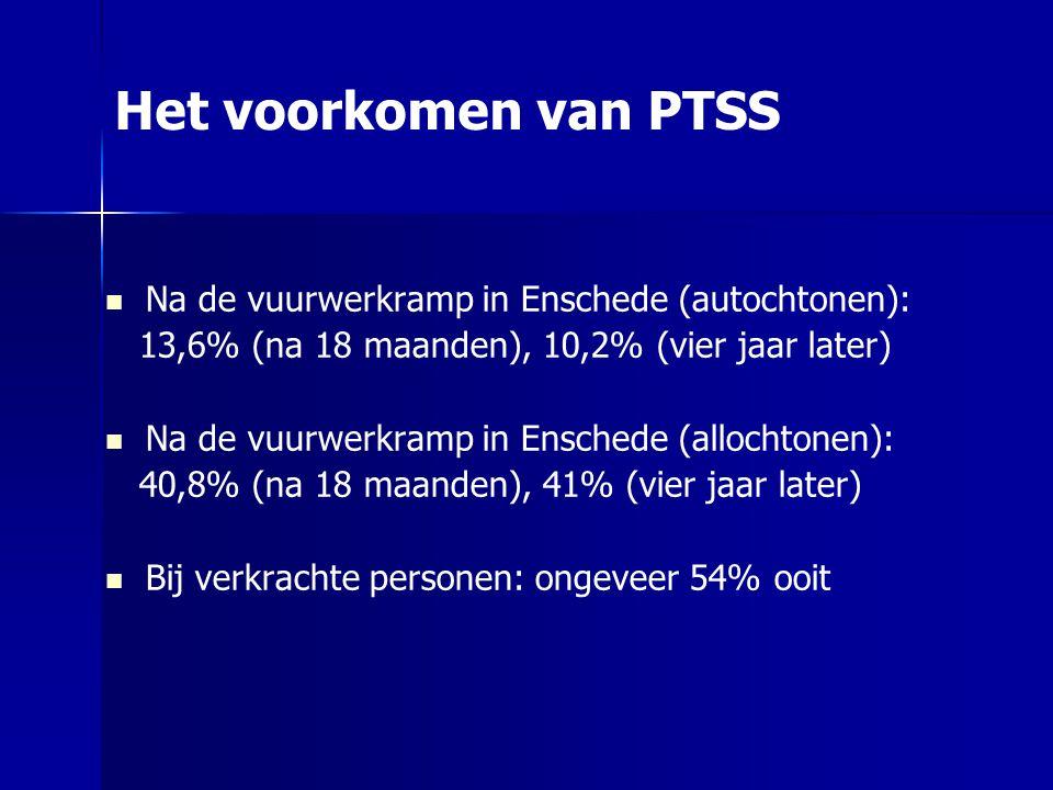 Het voorkomen van PTSS Na de vuurwerkramp in Enschede (autochtonen):