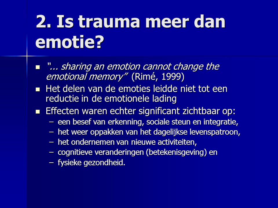 2. Is trauma meer dan emotie