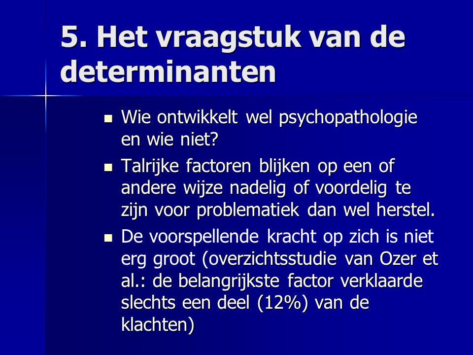 5. Het vraagstuk van de determinanten