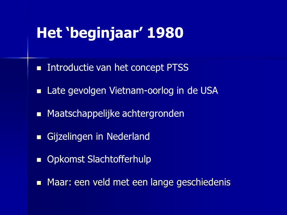 Het 'beginjaar' 1980 Introductie van het concept PTSS