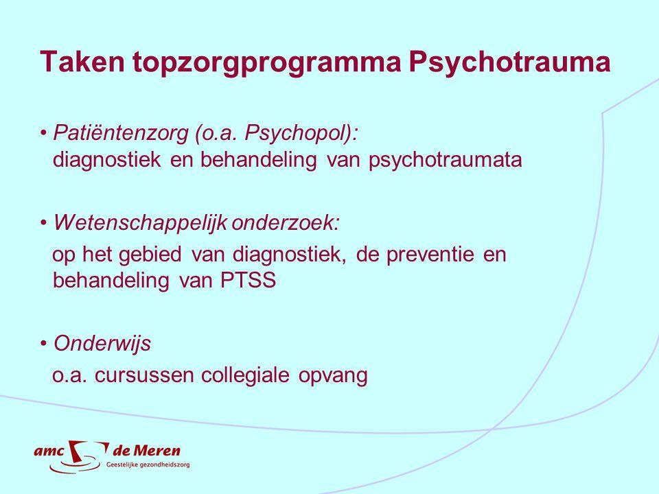 Taken topzorgprogramma Psychotrauma