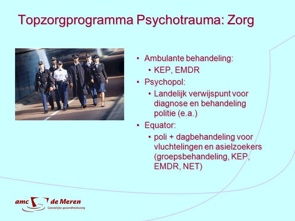 Topzorgprogramma Psychotrauma: Zorg